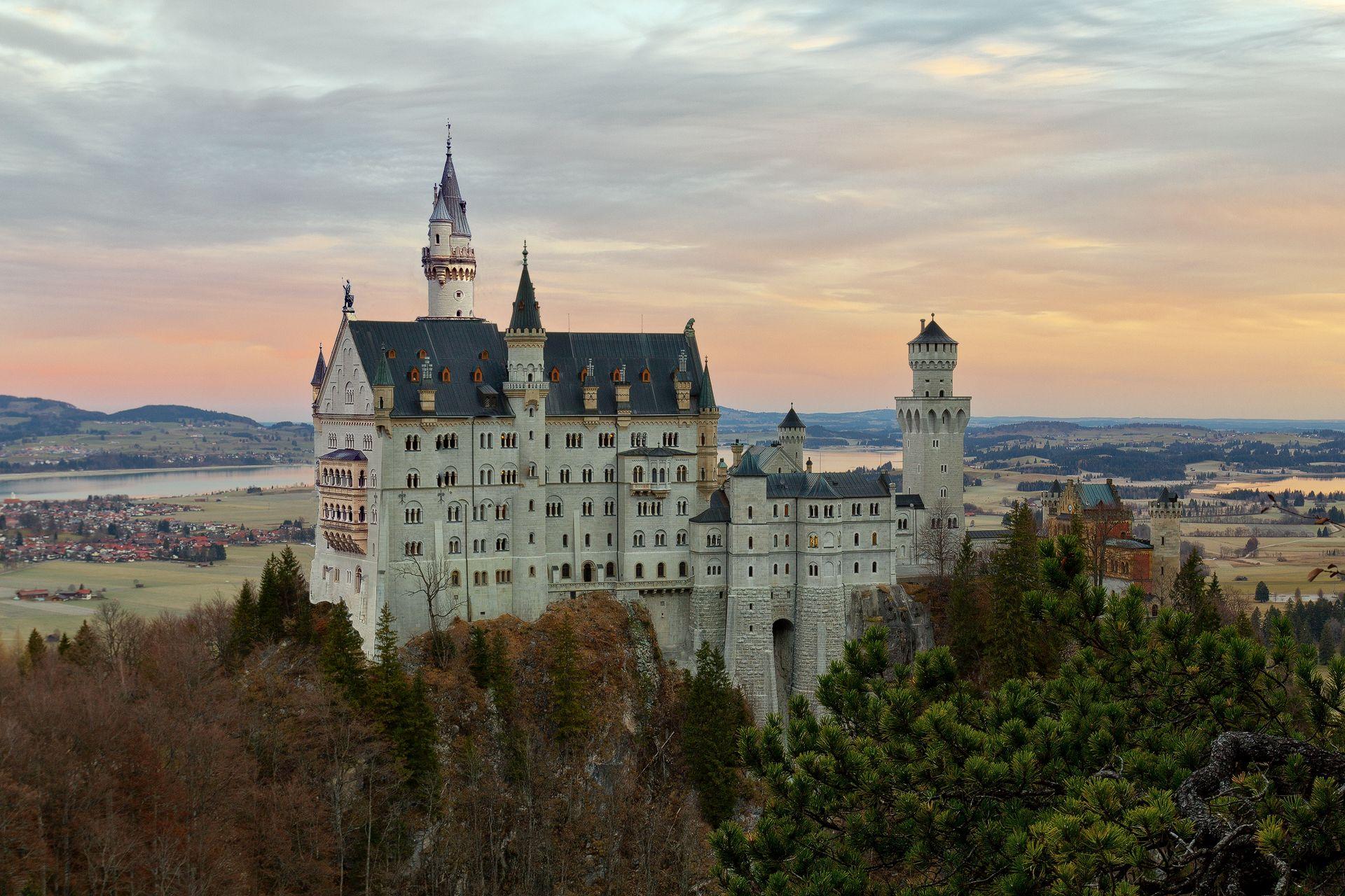 medieval, Neuschwanstein Castle, Hohenschwangau, Bavaria, Germany