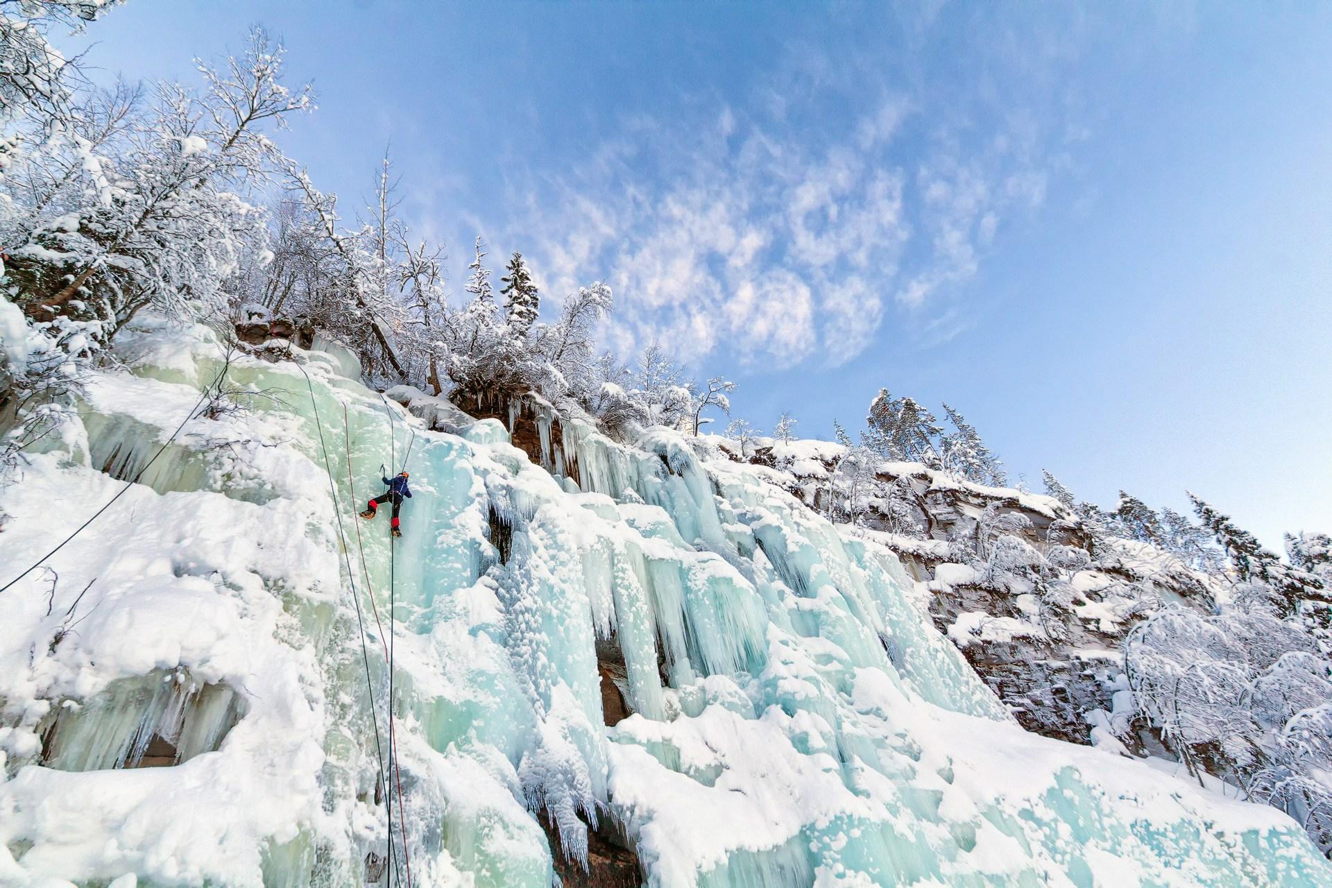 Rukatunturi, ruka, finland, lapland, finnish lappland, finnland, ice climbing, eisklettern, klettern,
